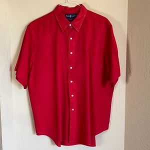 2/$22 Polo Ralph Lauren Classic Fit Red S/S Shirt